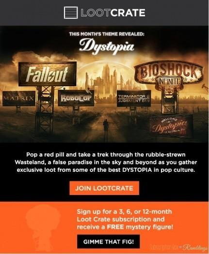 Loot Crate May 2016 Theme Reveal - Dystopia!