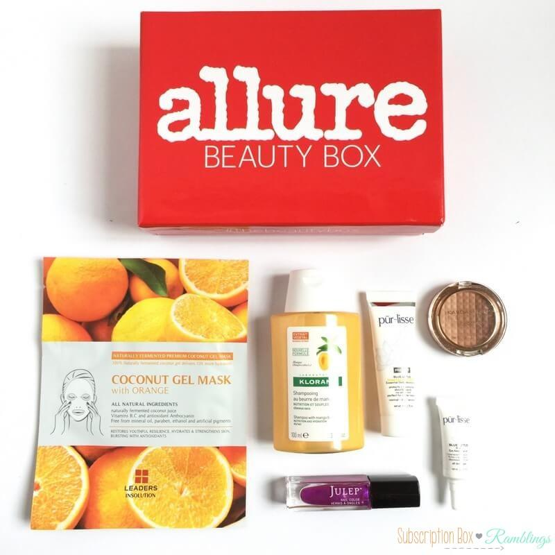 Allure Beauty Box Review – June 2016