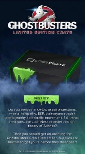 Loot Crate Limited Edition Ghostbusters Crate - On Sale Now!