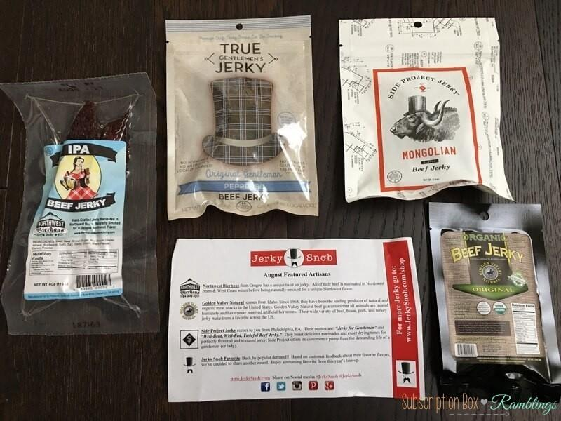 Jerky Snob August 2016 Subscription Box Review