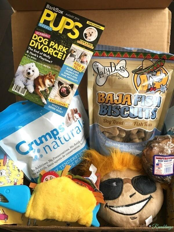 BarkBox Review + Coupon Code – August 2016