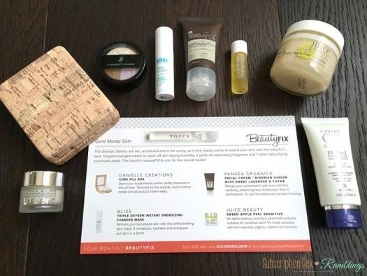 BeautyFIX August 2016 Subscription Box Review