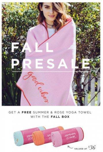 FabFitFun Fall Box - On Sale Now + Free Yoga Towel or $10 Off!