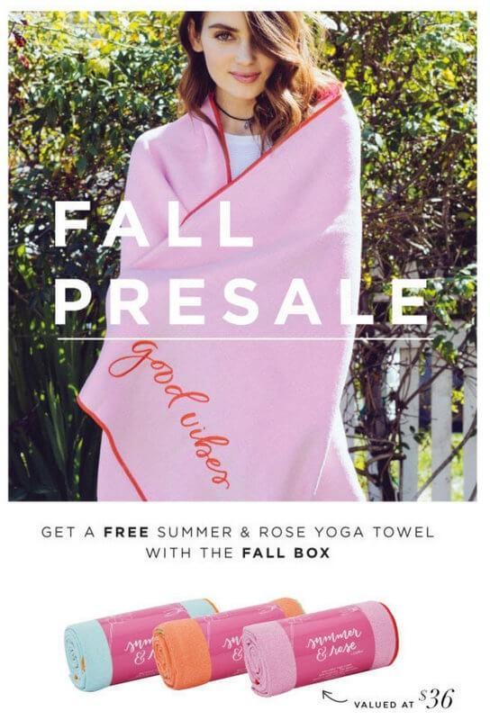 FabFitFun Fall Box – On Sale Now + Free Yoga Towel or $10 Off!