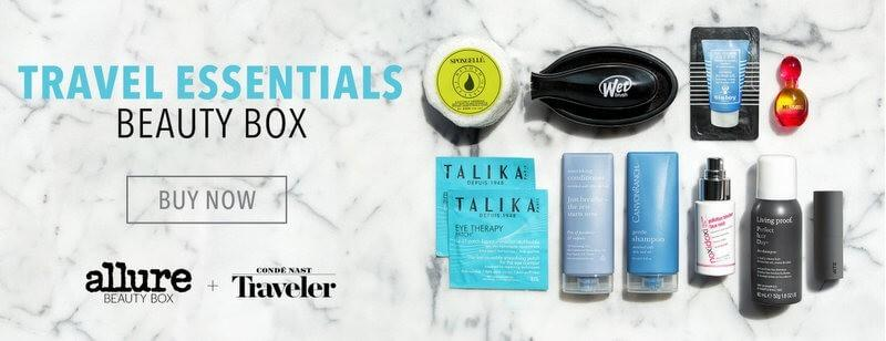 Allure + Conde Nast Traveler Travel Essentials Beauty Box – On Sale Now!