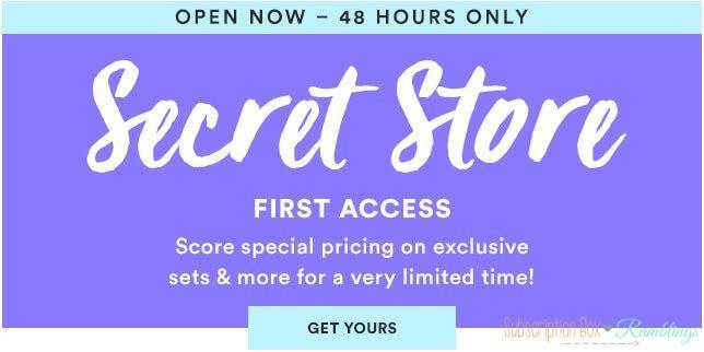 Julep September 2016 Secret Store – Now Open