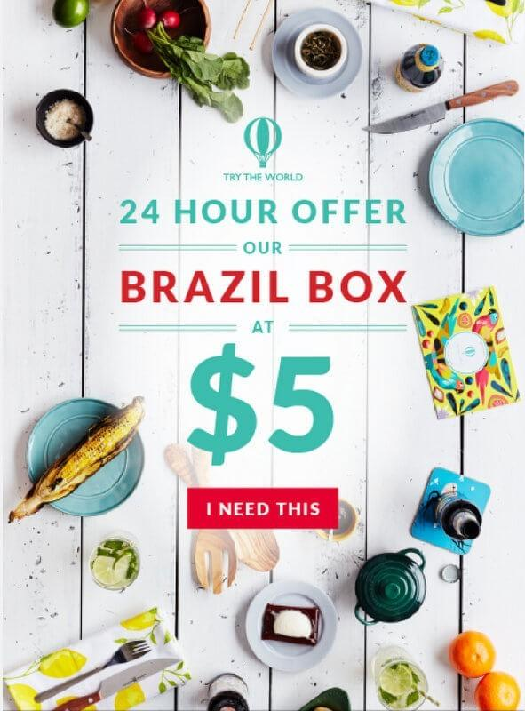 Try the World – Brazil Box Just $5