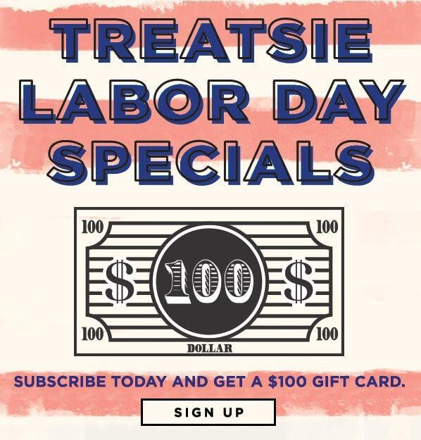 Treatsie Labor Day Gift With Purchase Offers!