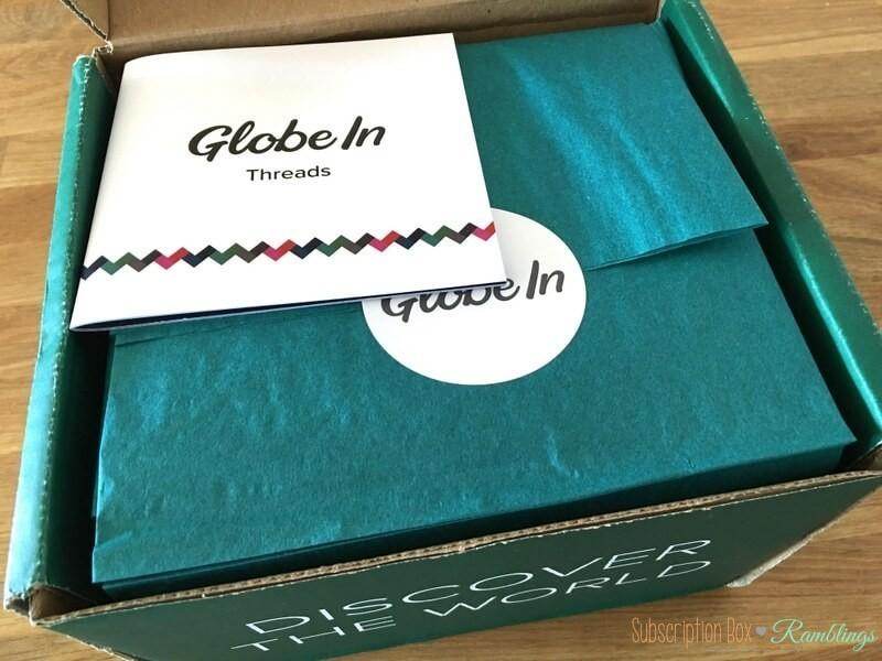 """GlobeIn September 2016 Subscription Box Review – """"Threads"""" + Coupon Code"""