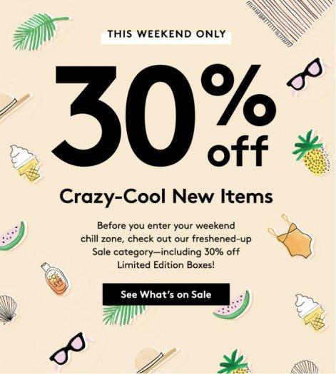BIrchbox – 30% Off Select Items (includes Limited Edition Boxes)!