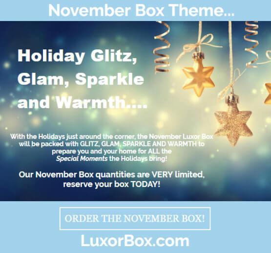 Luxor Box November 2016 Theme Reveal!