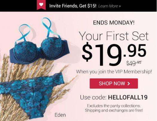 Adore Me - First Set for $19.95!