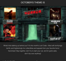 Loot Crate October 2016 Theme Reveal - HORROR + Coupon Code!
