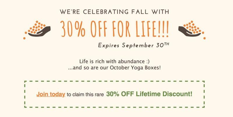 Yogi Surprise 30% Off for Life – Flash Sale + October 2016 Spoilers!