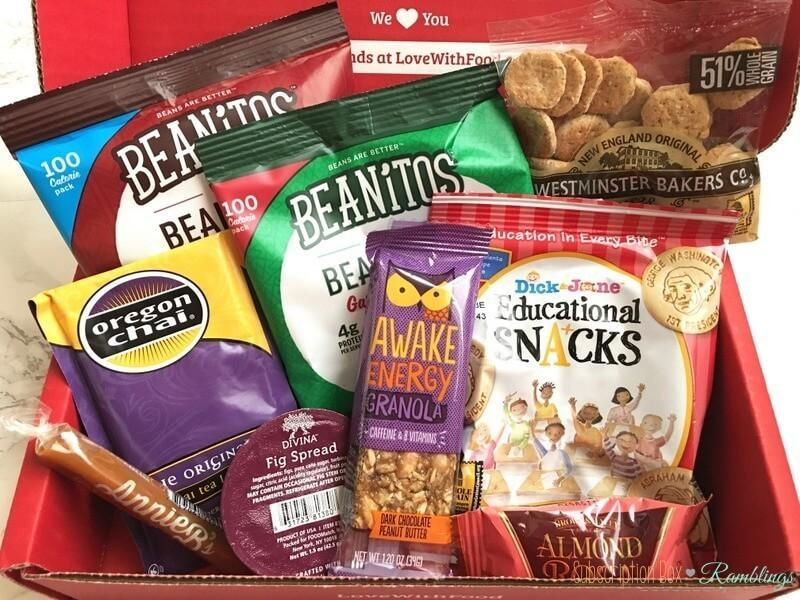 Love with food october 2016 tasting box review coupon codes love with food october 2016 tasting box review coupon codes negle Image collections