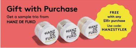 Birchbox Man – Spend $35+, get a free Hair Styler Sample Trio from Hanz de Fuko