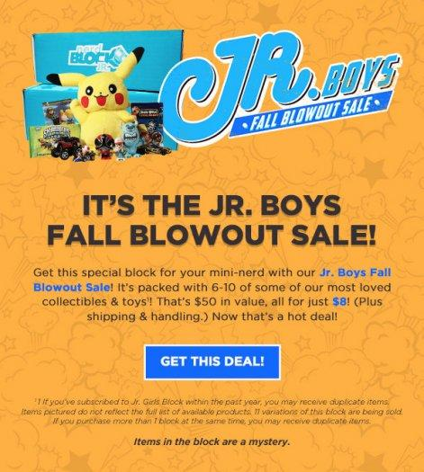 Nerd Block Jr. Fall Blow Out Sale!