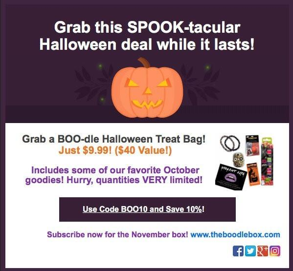 The Boodle Box Special Edition Treat Bag + 10% Off Coupon Code