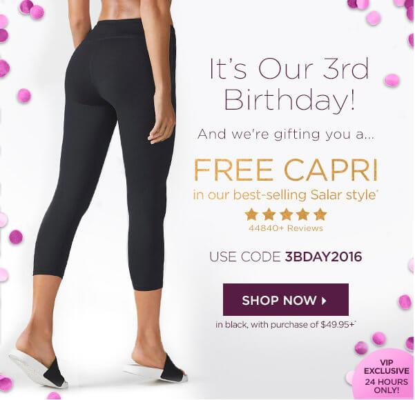 Fabletics – Free Salar Capris with $49.95+ Purchase!