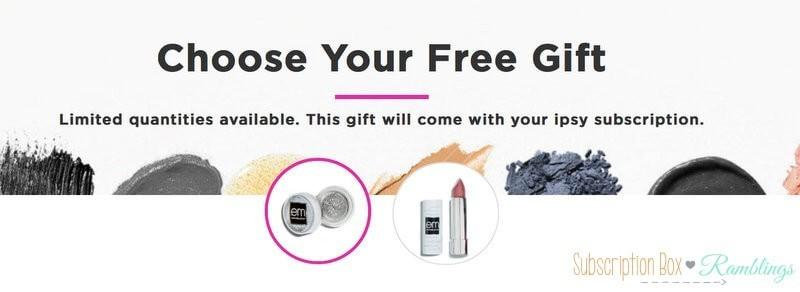 ipsy – Free Gift With Purchase