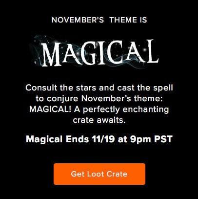 Loot Crate November 2016 Spoiler + Coupon Code