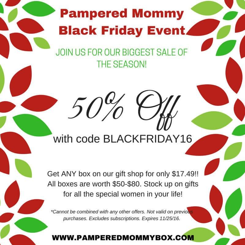 Pampered Mommy Box Black Friday Sale – 50% Off Past Boxes!