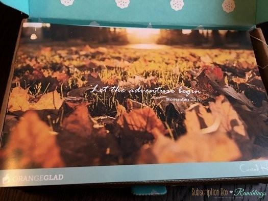 Orange Glad Review - November 2016 Subscription Box + Coupon Code