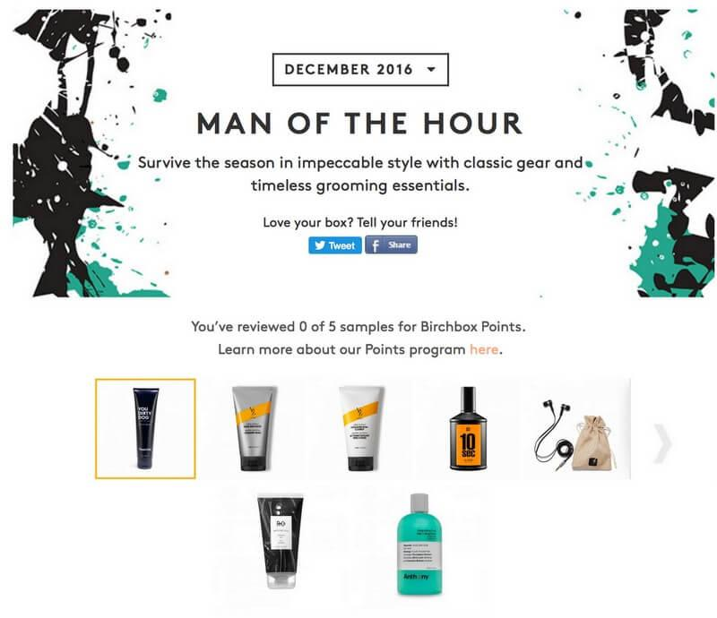 Birchbox Man December 2016 Box Reveal!