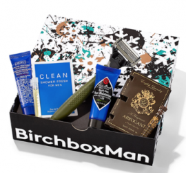 """New Birchbox Man customers can use coupon code """"FOR1"""" to get a free Birchbox Man bonus box with a new monthly subscription purchase."""
