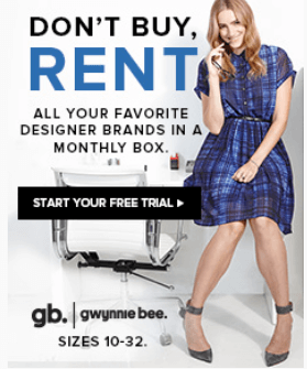 Gwynnie Bee – First Month Free + Free Lipstick!