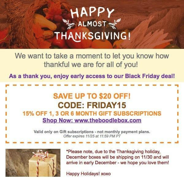 The Boodle Box Black Friday Sale!