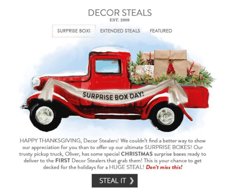 Decor Steals – Christmas Surprise Box (SOLD OUT)