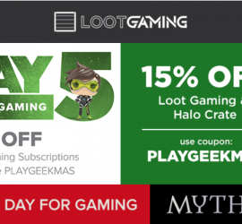 Loot Crate - 21 Days of Geekmas - 15% off Halo + Loot Gaming!