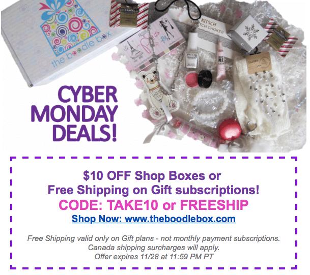 The Boodle Box Cyber Monday Sale