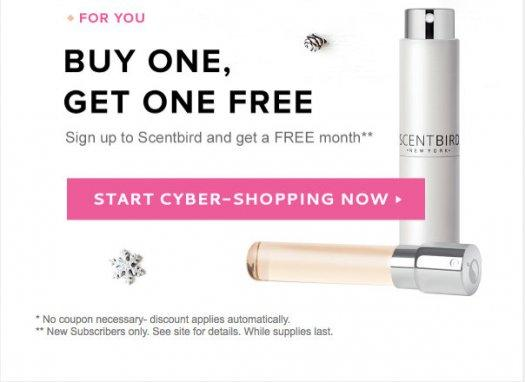 Scentbird Cyber Monday Sale – Buy 1 Month, Get 1 Free