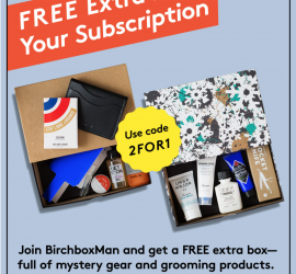 Birchbox Man - Free Bonus Box with New Subscription Purchases