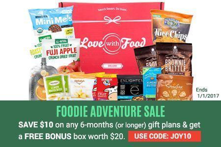 Love With Food $10 Off + Free Bonus Box