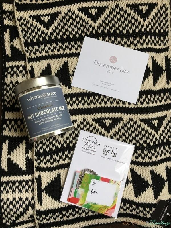 Aster Market Review December 2016 Subscription Box