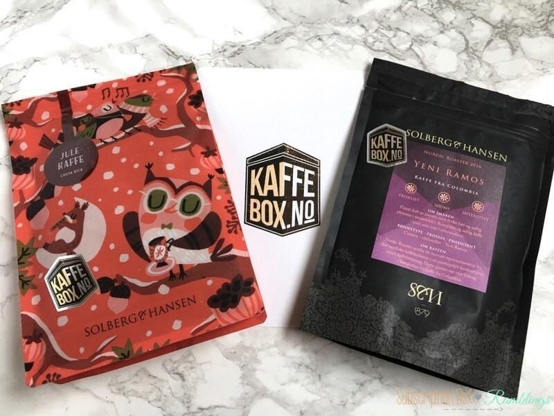 Kaffe Box No. November 2016 Subscription Box Review