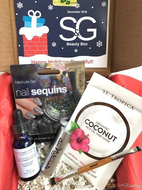 S&G Beauty Box December 2016 Subscription Box Review