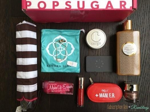 POPSUGAR Must Have Box RueLaLa Holiday Glamour Box Review – December 2016