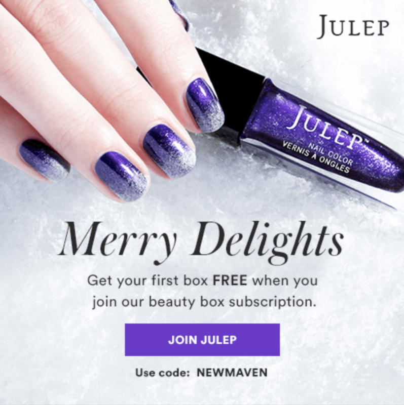 Julep – First Box Free for New Subscribers