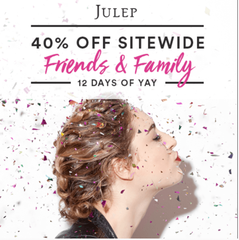 Julep 40% Off Friends and Family Sale!