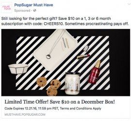 POPSUGAR Must Have Box - Save $10 Off a 1-Month or $20 off a 3-Month or 6-Month Subscription