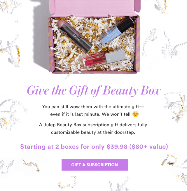 Julep – Gift a Box, Get a FREE Bonus Gift for You!
