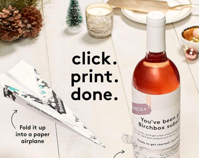 Birchbox Printable Gift Subscriptions Subscription Box Ramblings