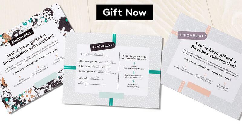 Birchbox Printable Gift Subscriptions Subscription Box