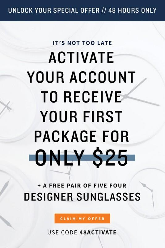 Five Four Club – $25 First Box Offer + Free Sunglasses!