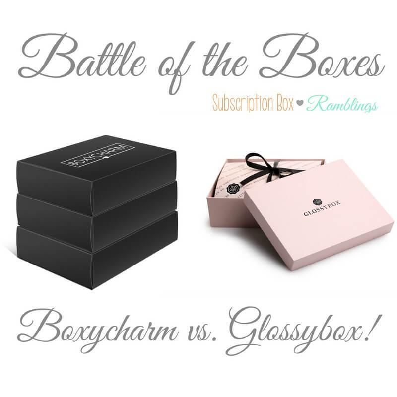 Battle of the Boxes: Boxycharm vs. Glossybox – August 2017