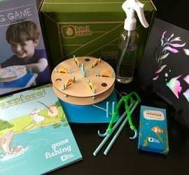 """Kiwi Crate Review December 2016 Subscription Box Review - """"Fishing Game"""""""